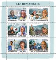 COMORES 2008 - Humanists. YT 1351-1356, Mi 1974-1979, Sc 1045 - Comoren (1975-...)