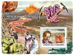 COMORES 2008 - Mineralogists & Minerals (Max Von Laurie, Calcite). YT 145, Mi 2043/BL463, Sc 1052 - Comores (1975-...)
