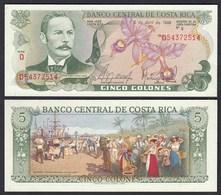 COSTA RICA 5 Colones Banknote UNC (1) Pick 236d  (25646 - Billetes