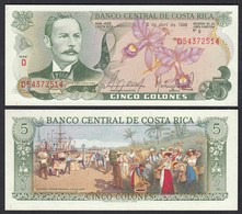COSTA RICA 5 Colones Banknote UNC (1) Pick 236d  (25646 - Bankbiljetten