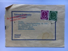 GERMANY Early 1950`s Newspaper Wrapper Sent To Dublin Irleand - Lettres & Documents