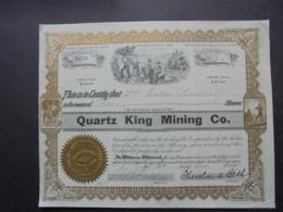 USA - 1905 - QUARTZ KING MINING - TITRE DE 5 ACTIONS- BELLES VIGNETTES - Shareholdings