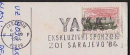 YUGOSLAVIA - YASA  SPONZOR OLYMPIC SARAJEVO - VARAZDIN - 1984 - Winter 1988: Calgary