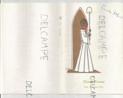 Menu De Communion De Claude Tromme Le 2 Mai 1971. Dessin De Capucine. - Menus
