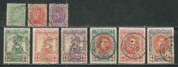 Belgique N° 126 à 134 Obl. - 1914-1915 Red Cross