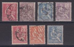 CP 152/ N° 112/118 OBL COTE 45€ - France