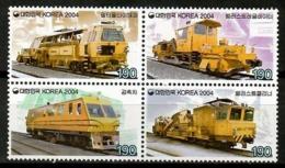 Korea South 2004 Corea / Trains Railways MNH Trenes Züge / Cu13511  36-36 - Trenes