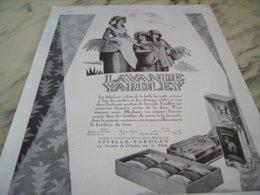 ANCIENNE PUBLICITE SAVON DES ELEGANCES YARDLEY 1930 - Parfum & Cosmetica