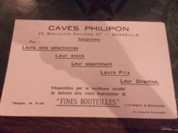 BUVARD CAVES PHILIPON MARSEILLE 27 BOULEVARD PHILIPON VINS FINES BOUTEILLES - Liqueur & Bière