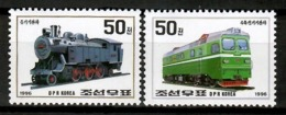 Korea 1996 Corea / Railways Trains MNH Trenes Züge / Cu12715  36-37 - Trenes