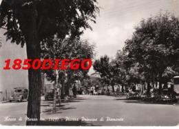 ROCCA DI MEZZO - PIAZZA PRINCIPE DI PIEMONTE F/GRANDE VIAGGIATA 1955 ANIMATA - L'Aquila