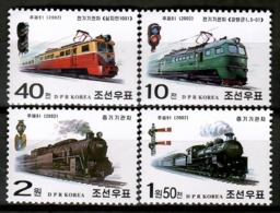 Korea 2002 Corea / Railways Trains MNH Trenes Züge / Cu12726  36-26 - Trenes