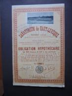 FRANCE, GIRONDE, PESSAC 1929 - SANATORIUM DE HAUT-LEVEQUE - OBLIGATION HYPOTHECAIRE 500 FRS 6 1/2% - DECO - Shareholdings