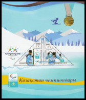2018Kazakhstan1084-85/B107Paralympic Champion Alexander Kolyadin - Inverno 2018 : Pyeongchang