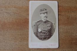 Cdv Second Empire Militaire Général Avec Décorations Et Képi   Général CHANZY - Guerra, Militares