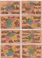 """24 Images-chromos """"Biscuits PERNOT - Dijon"""" . Thème : """"Les Départements Français"""".  B état. 25 Scan, (24 Recto, 1 Verso) - Cromo"""