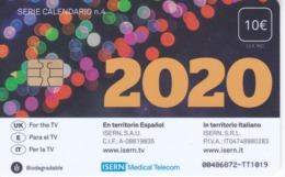 ISN-306 TARJETA DE ESPAÑA DE ISERN DE LA SERIE CALENDARIO Nº4 (AÑO 2020) - Tarjetas Telefónicas