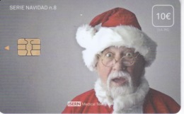 ISN-307 TARJETA DE ESPAÑA DE ISERN DE LA SERIE NAVIDAD Nº8 (CHRISTMAS - PAPA NOEL) - Noel