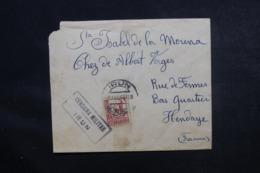 ESPAGNE - Cachet De Censure De Irun Sur Enveloppe Pour La France En 1937 , Affranchissement Plaisant - L 46853 - Republicans Censor Marks