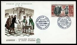 1964, Andorra Französische Post, 183-84, FDC - Ohne Zuordnung