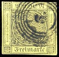 1851, Altdeutschland Baden, 2, Gest. - Baden