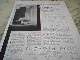 ANCIENNE PUBLICITE LA BEAUTE  ELIZABETH ARDEN 1930 - Parfum & Cosmetica
