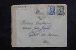 ESPAGNE - Cachet De Censure De Santa Cruz De Tenerife Sur Enveloppe Pour La France En 1945 - L 46858 - Marques De Censures Nationalistes