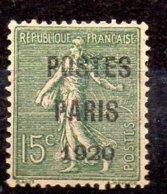 Francia Sello Preobiterados Nº Yvert 25 ** Sin Goma Valor Catálogo 320.0€ - 1893-1947
