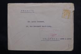 ESPAGNE - Cachet De Censure De San Sebastian Sur Enveloppe Commerciale Pour La France En 1938 - L 46859 - Marques De Censures Nationalistes