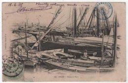 Cachet Rond Bleu Réclamations Retour à L'envoyeur Timbres Taxe Bruxelles Facteurs Alger Rouiba Cpa Port Oran - Postmark Collection