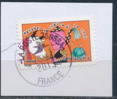 """France - Sourires 2013 - """"Ménager La Chèvre ..."""" YT A798 Obl. Cachet Rond Manuel Sur Fragment - Adhésifs (autocollants)"""
