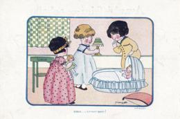 CPA (illustrateur)  M VONASEK Dodo L Enfant Dort  (pub Chaussures Raoul) - Künstlerkarten