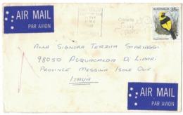 IA56   Australia Air Mail Cover Sent To Italy Acquacalda Di Lipari 11-12-1980 Single Franked - 1980-89 Elizabeth II