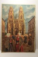 ORLEANS - LA CATHEDRALE  SAINTE CROIX - EN PARCOURANT L'ORLEANAIS - (  HOMUALK   Illustrateur  ) - Homualk