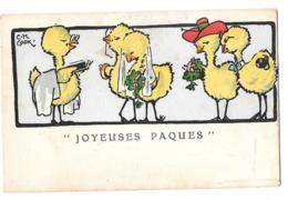CPA ..ILLUSTRATEUR...     C.K  COOK..JOYEUSES PAQUES  LE MARIAGE... BE..SCAN M.M VIENNE N° 248... - Künstlerkarten
