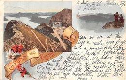 Switzerland Gruss Vom Pilatus Edelweiss Flowers Souvenir 1898 Litho - Switzerland