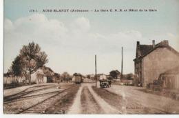 AIRE BLANZY  -  La Gare C.B.R. Et Hôtel De La Gare - Autres Communes