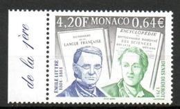 MONACO. N°2308 De 2001. Philosophes Diderot Et Littré. - Célébrités