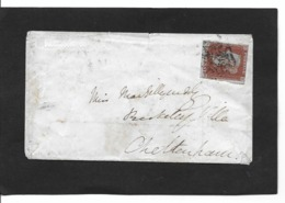CAMBRDGE To CHELTENHAM 1.4.1844  S H Papier Bleu  StG 7 - 1840-1901 (Victoria)