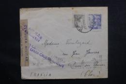 ESPAGNE - Cachet De Censure De Santa Cruz De Tenerife Sur Enveloppe Pour La France En 1939 - L 46870 - Marques De Censures Nationalistes