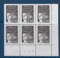 """FR Coins Datés YT 3086 """" Luquet 10c.bistre-noir """" Neuf** Du 18.07.97 - 1990-1999"""