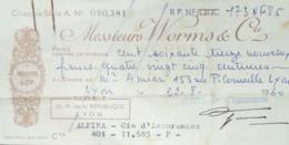 Chèque Banque Alpina - Cheques En Traveller's Cheques