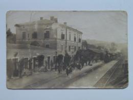 Italia 41 Stazione Ferroviaria Treno Animata Bella 1920 Bahnhof Station Train Zug Tram Italy - Italie