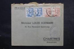 ESPAGNE - Cachet De Censure Sur Enveloppe Commerciale De Barcelone Pour La France En 1940 - L 46877 - Marques De Censures Nationalistes