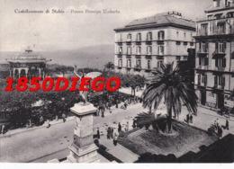 CASTELLAMMARE DI STABIA - PIAZZA PRINCIPE UMBERTO F/GRANDE VIAGGIATA 1955 ANIMAZIONE - Castellammare Di Stabia
