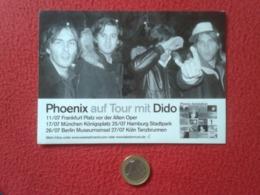 PEGATINA ADHESIVO STICKER PHOENIX MUSIC BAND FRANCE ? VER... AUF TOUR MIT DIDO FRANKFURT MÜNCHEN BERLIN MUSIQUE VER FOTO - Pegatinas