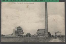 MARQUISE (62) - Les Fosses à Charbon - ANIMÉE (Attelage) - [ Mines - Houille - Usine - Industrie ] RARE !! - Marquise