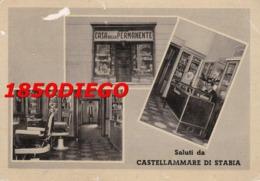 SALUTI DA CASTELLAMMARE DI STABIA - CASA DELLA PERMANENTE F/GRANDE NONVIAGGIATA  ANIMAZIONE - Castellammare Di Stabia