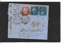 LONDON  11.12.1858 Paire StG 45  Pl 7+43 - 1840-1901 (Viktoria)