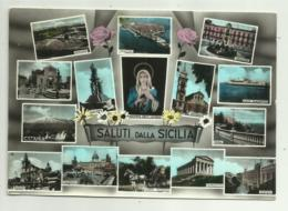 SALUTI DALLA SICILIA - VEDUTE CITTA'  - VIAGGIATA FG - Italien